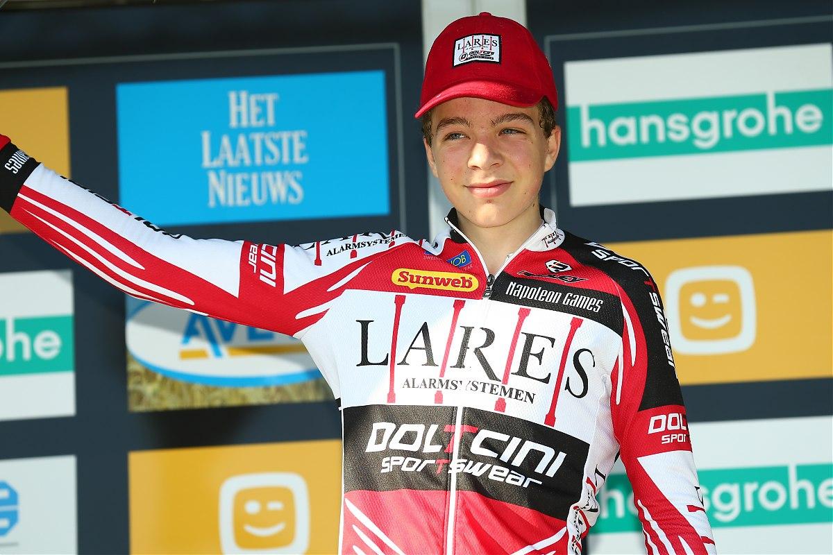 Florian Vermeersch de overwinnaar in de Scheldecross Antwerpen.