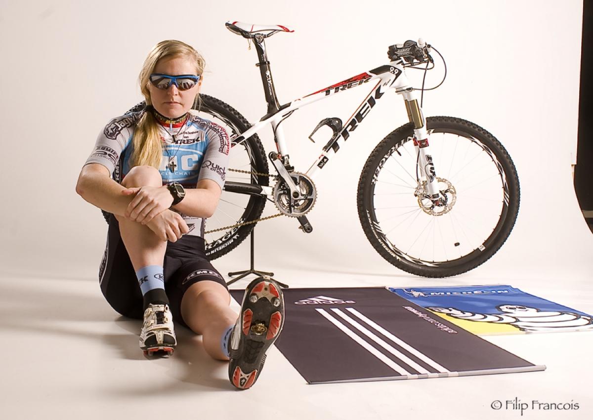 Githa Michiels werd zesde in de Scheldecross