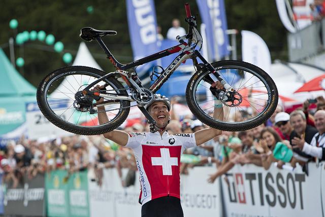 Thomas Litscher wereldkampioen bij de beloften.