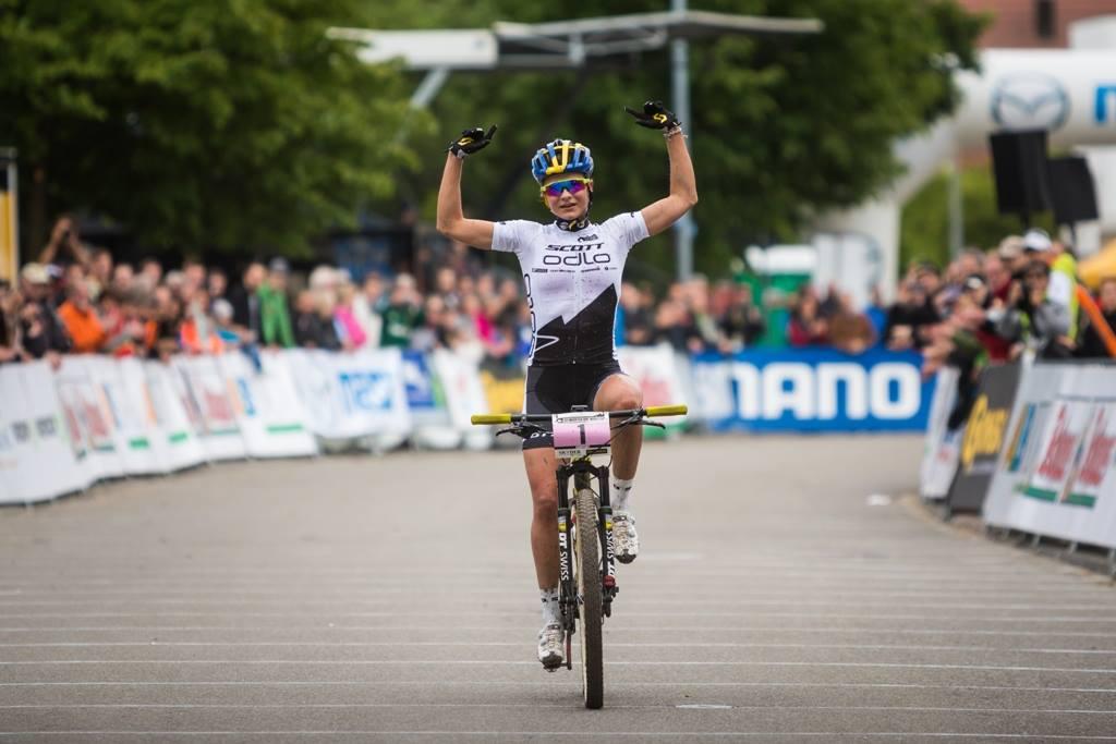 Jenny Rissveds bist bij U23 in wereldbeker Albstadt