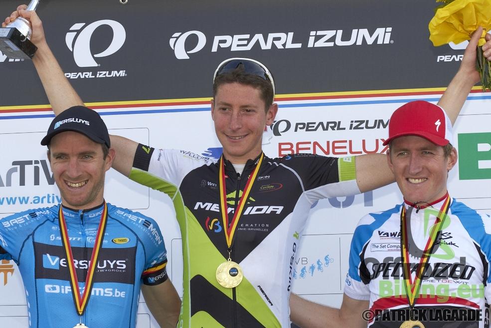 Sebastien Carabin wint in Eupen