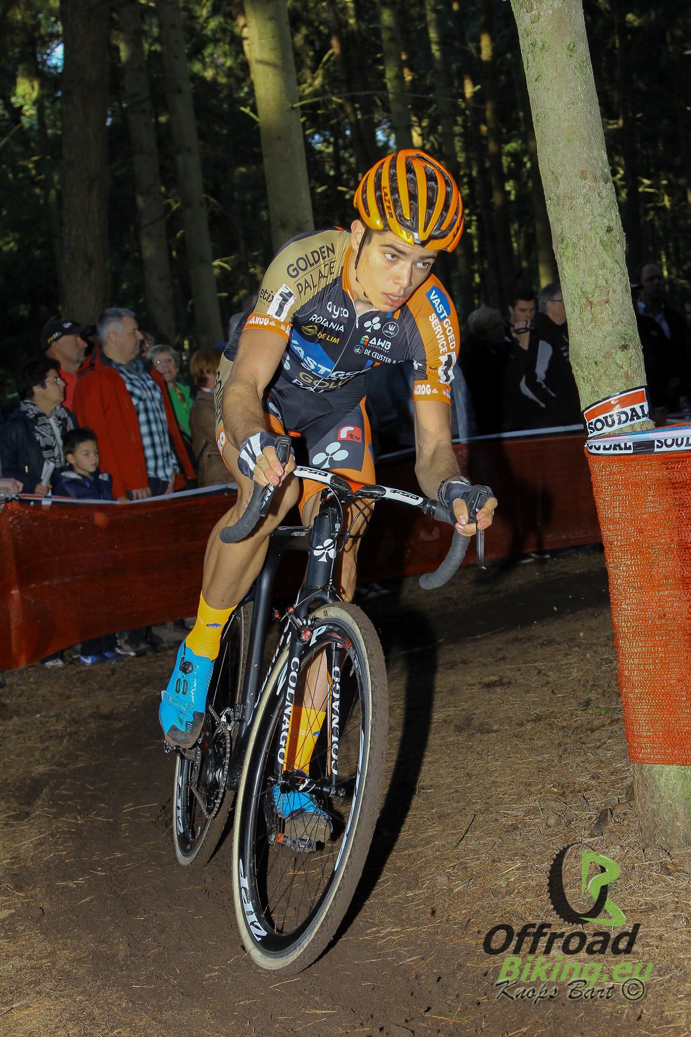 3 op 3 in B Post Bank Trofee voor Wout Van Aert in Hamme 29 november 2015
