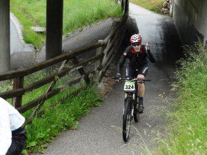 Andy Lepercq tijdens de Alpentour