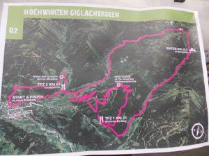 Kaart tweede rit Alpentour 2016