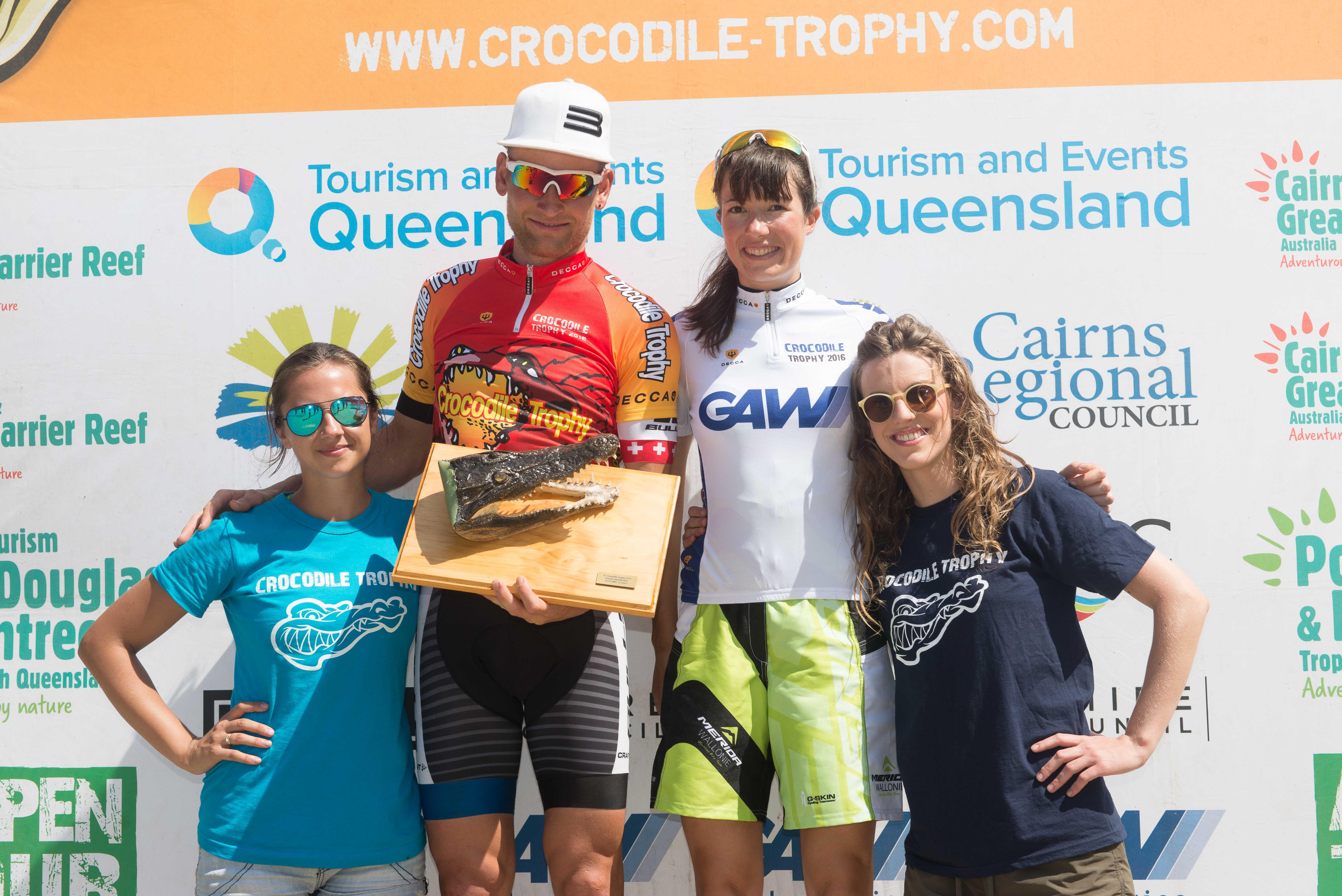 Urs Huber en Alice Pirard winnen Crocodile Trophy  2016