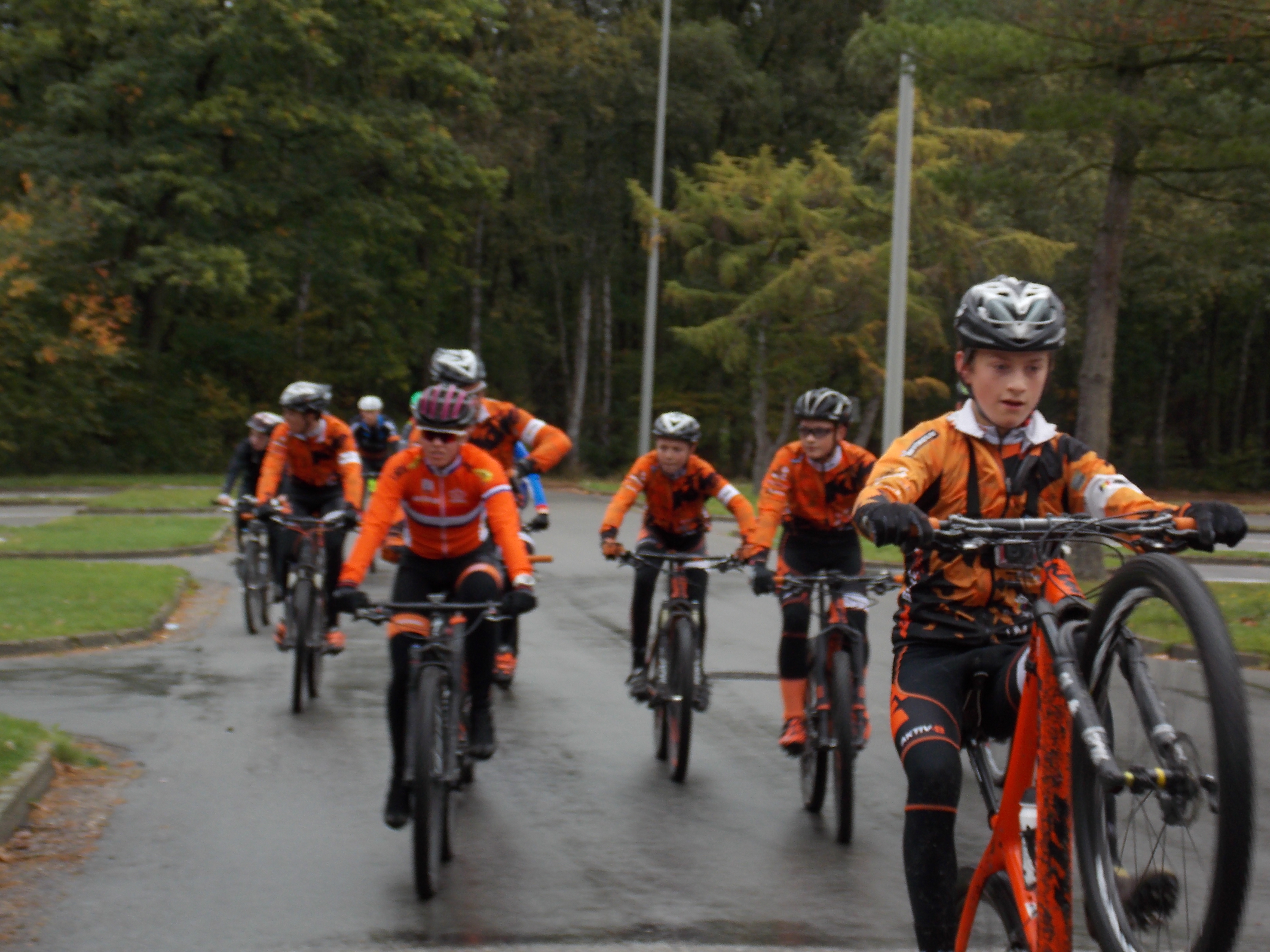 Teamdag van KTM Bikevision MTB team in Genk