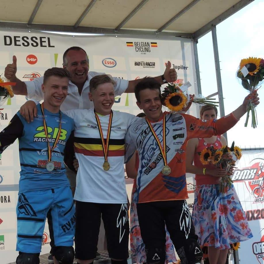 Zes overwinningen voor BMX2000 op het BK BMX in Dessel