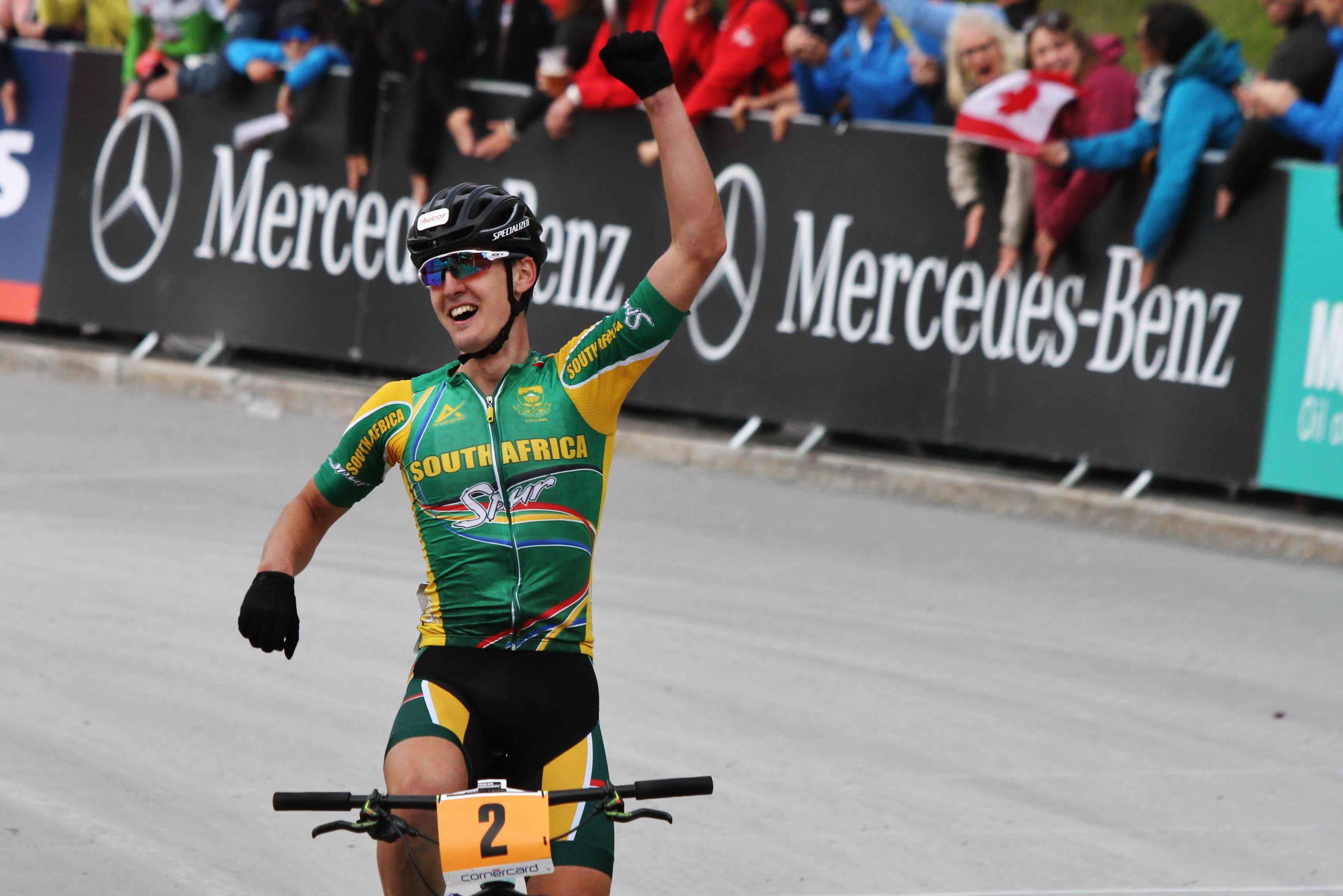 Alan Hatherly is wereldkampioen bij de U23 in Lenzerheide