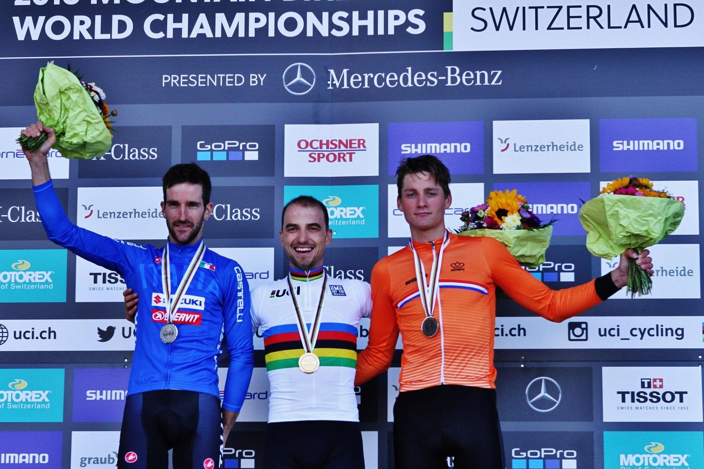 Nino Schurter voor zevende maal wereldkampioen, Schuermans en Panhuyzen in top 20
