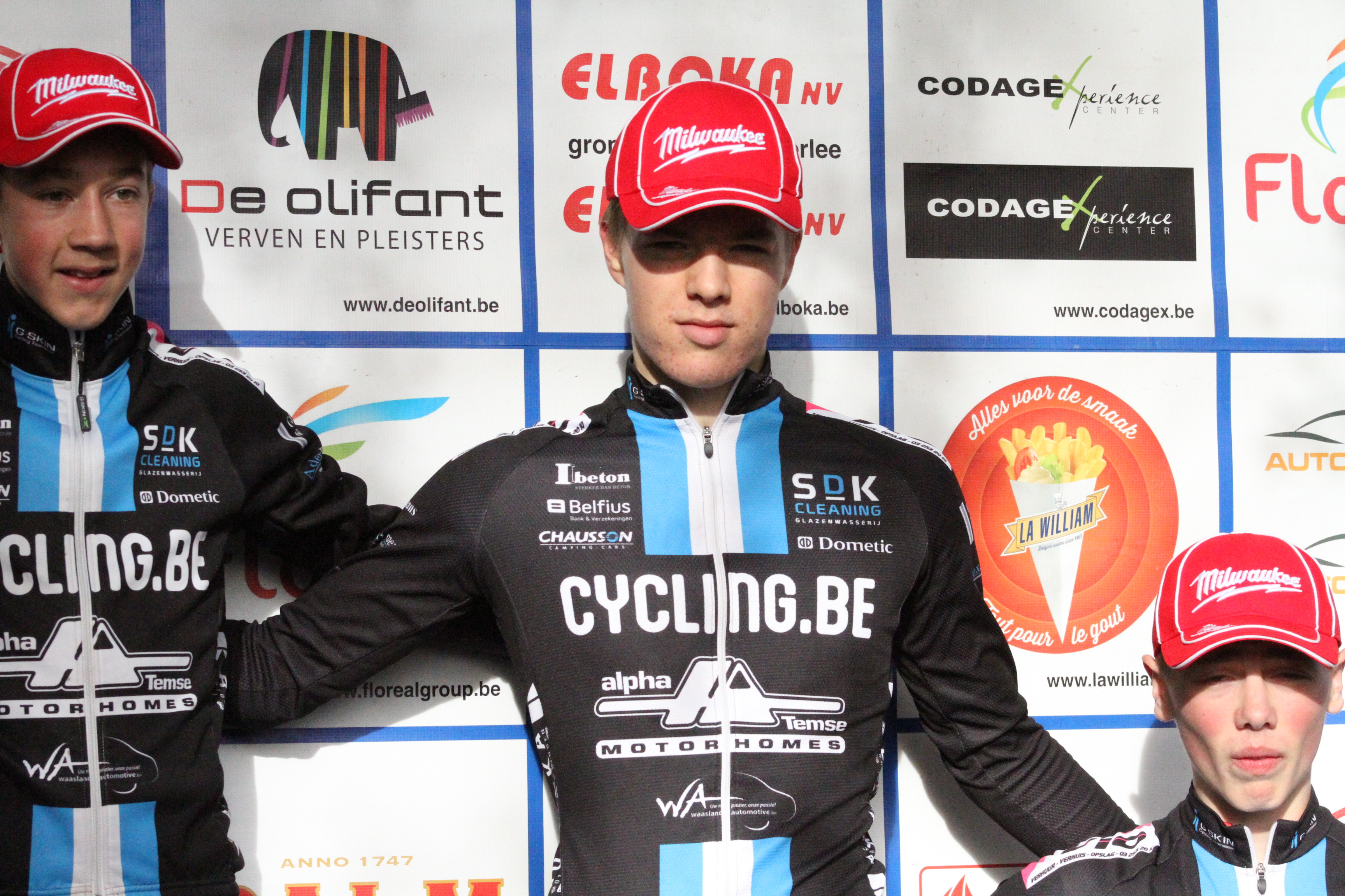 3 podiumplaatsen in Rijkevorsel voor Milwaukee Alphamotorhomes Cycling Team