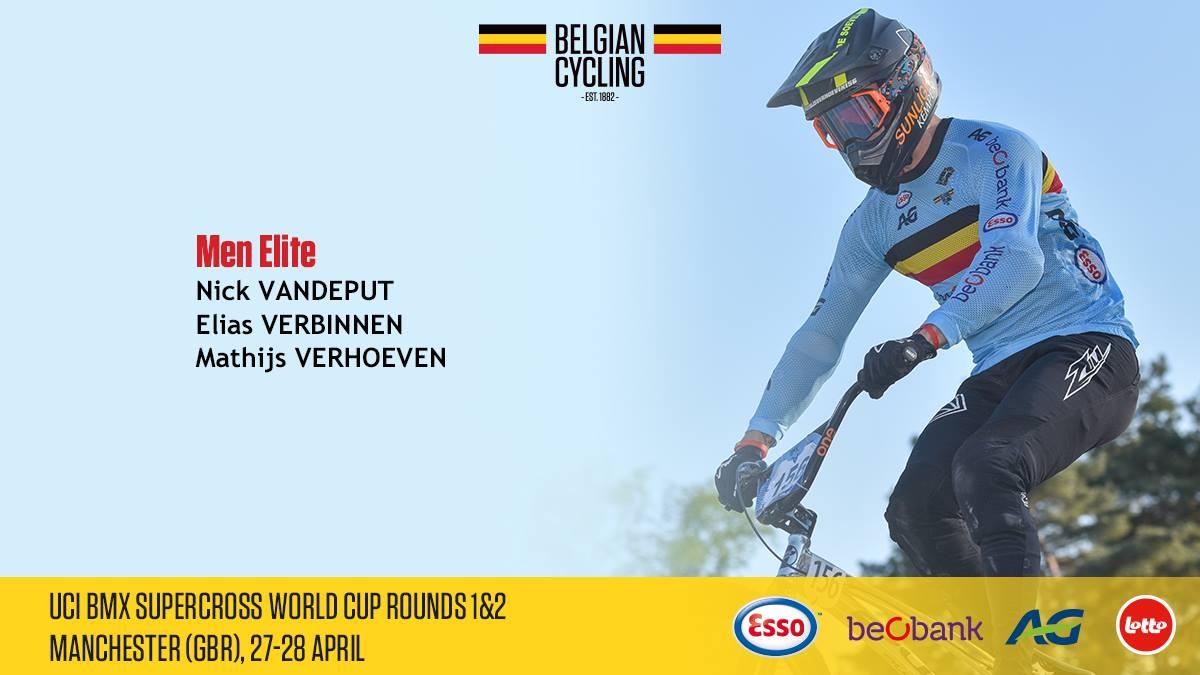 Nationale Selectie voor wereldbeker BMX Supercross in Manchester