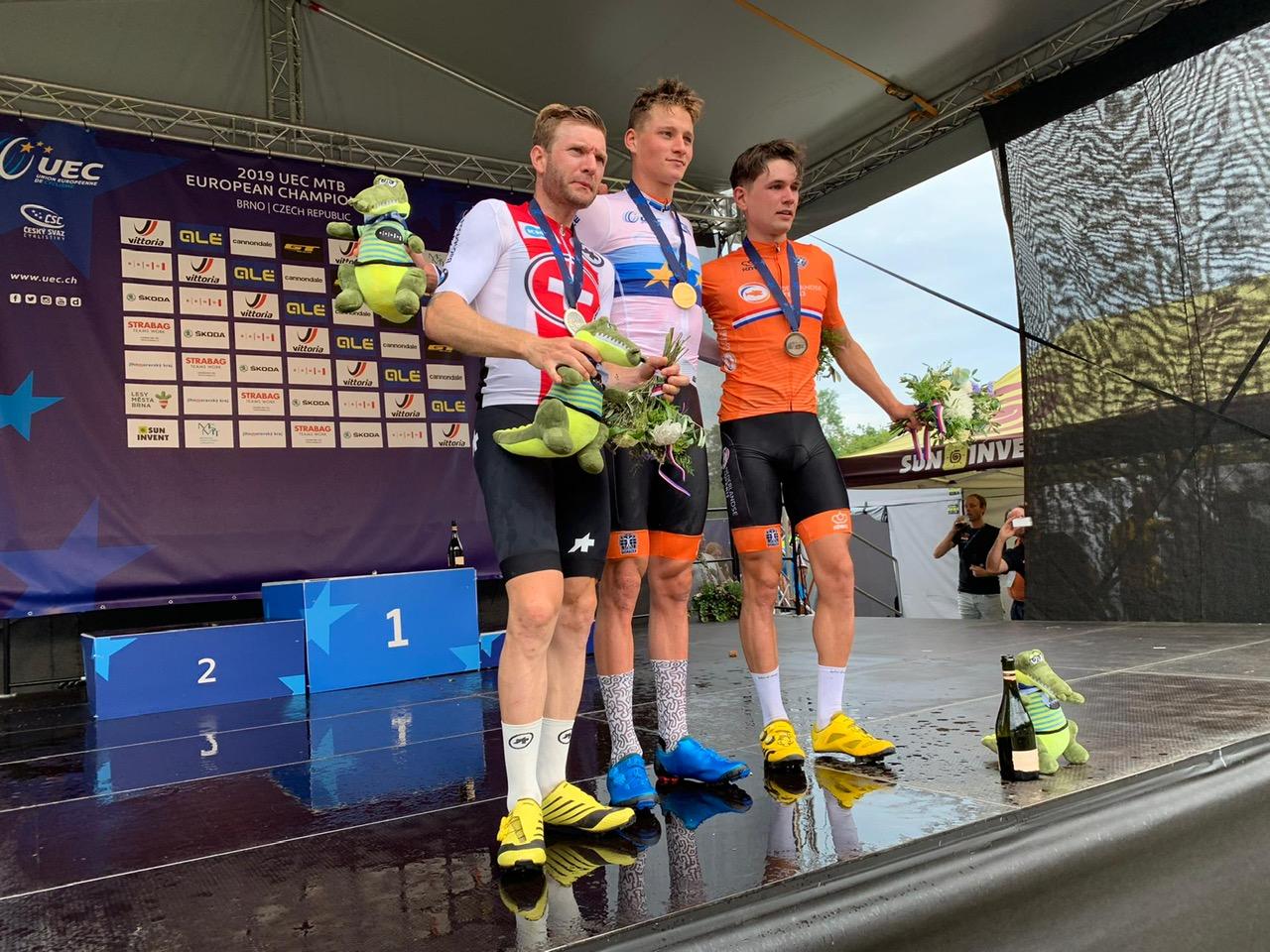 Mathieu van der Poel Europees kampioen in Brno