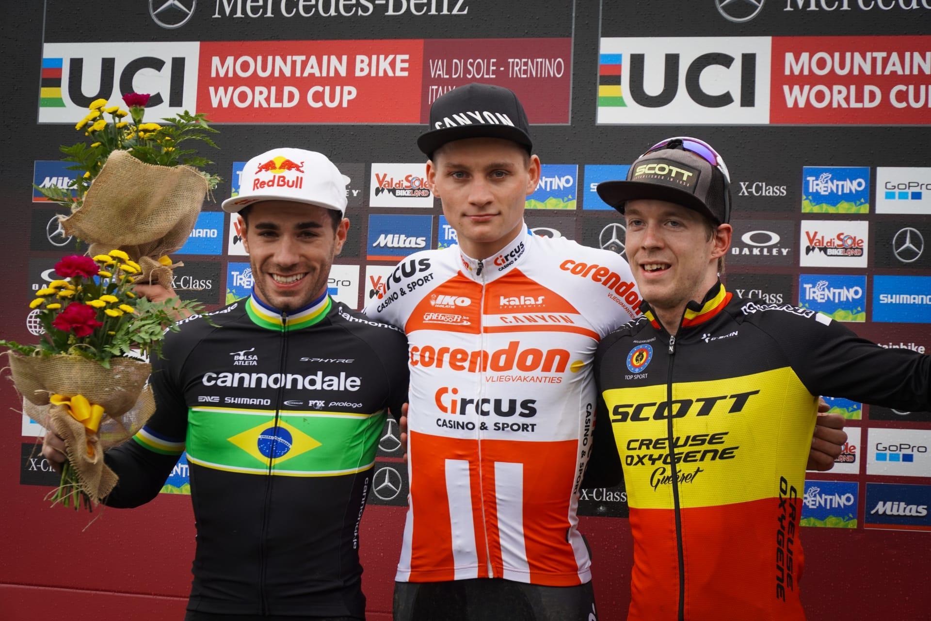 van der Poel en Neff winnen short track in Val di Sole, Jens Schuermans knap derde