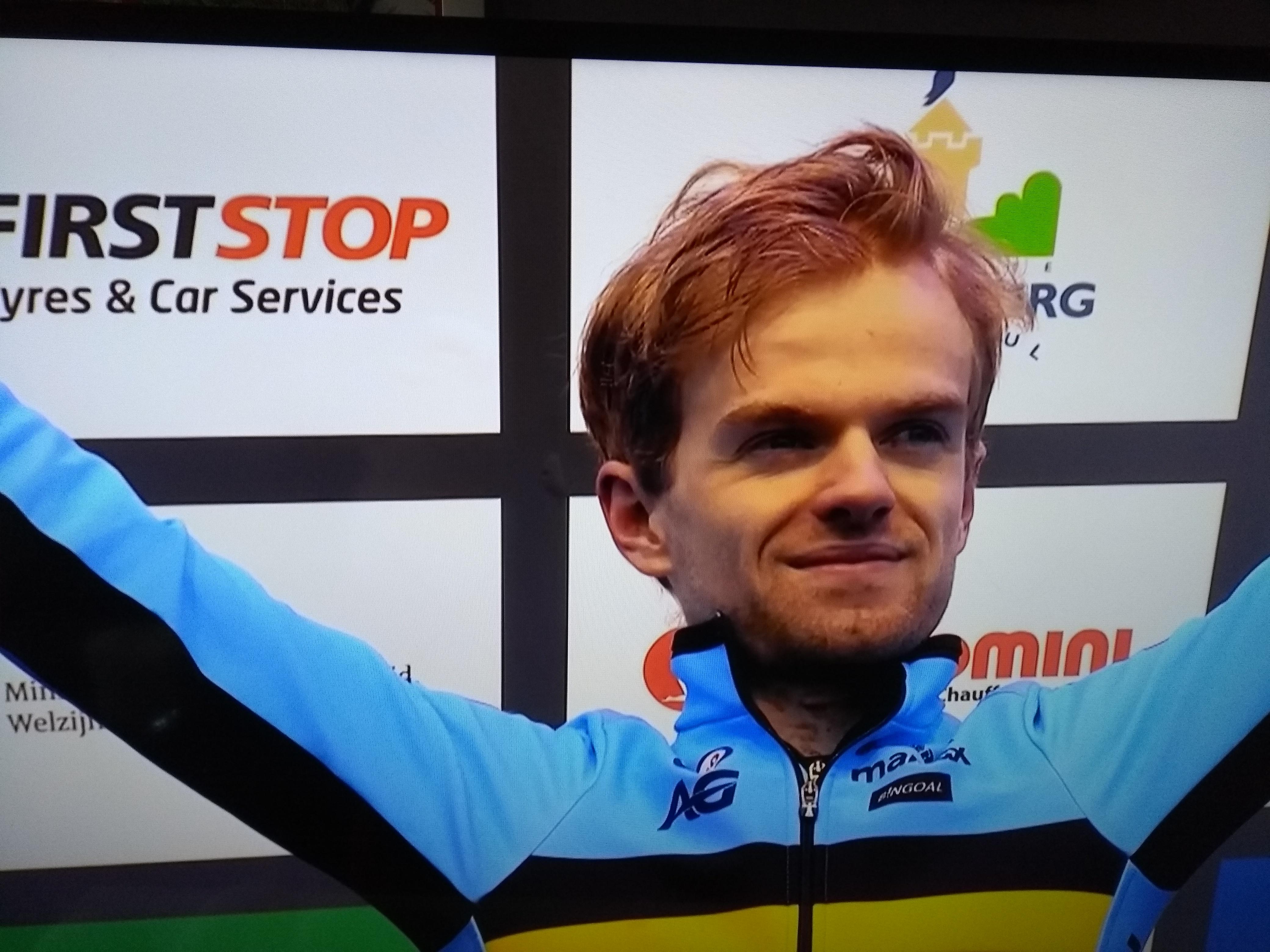 Eli Iserbyt wint eerste wereldbekermanche in Iowa