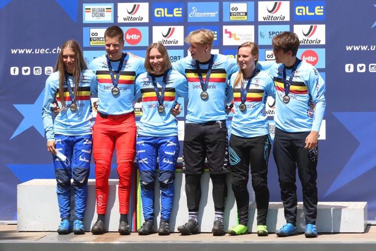België pakt twee maal zilver bij de time trail in EK Zolder