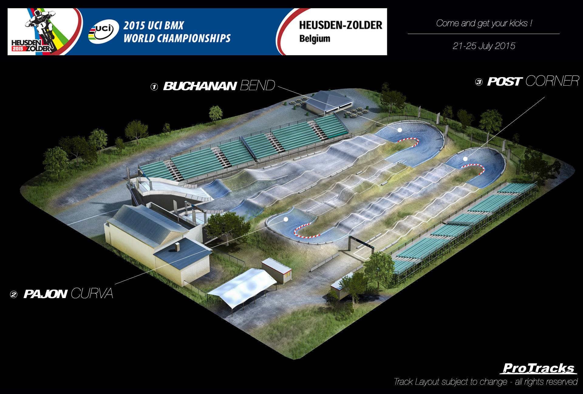 The 2015 UCI BMX World Championships race track is official