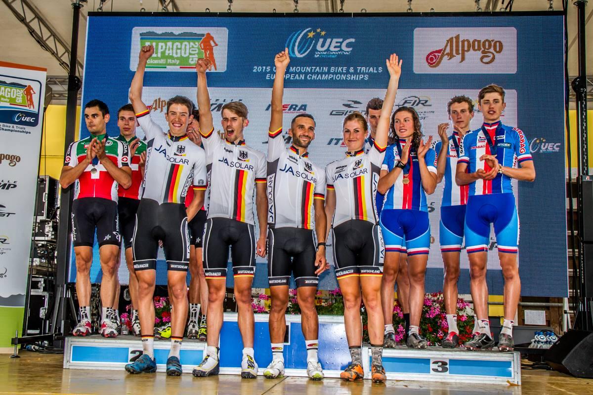 Duitsland wint Team Relay op EK in Chies d'Alpago