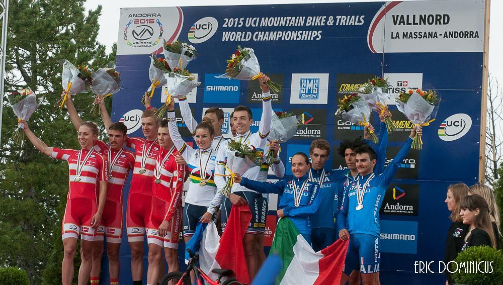 Frankrijk verlengt wereldtitel in Team Relay, België knap zesde