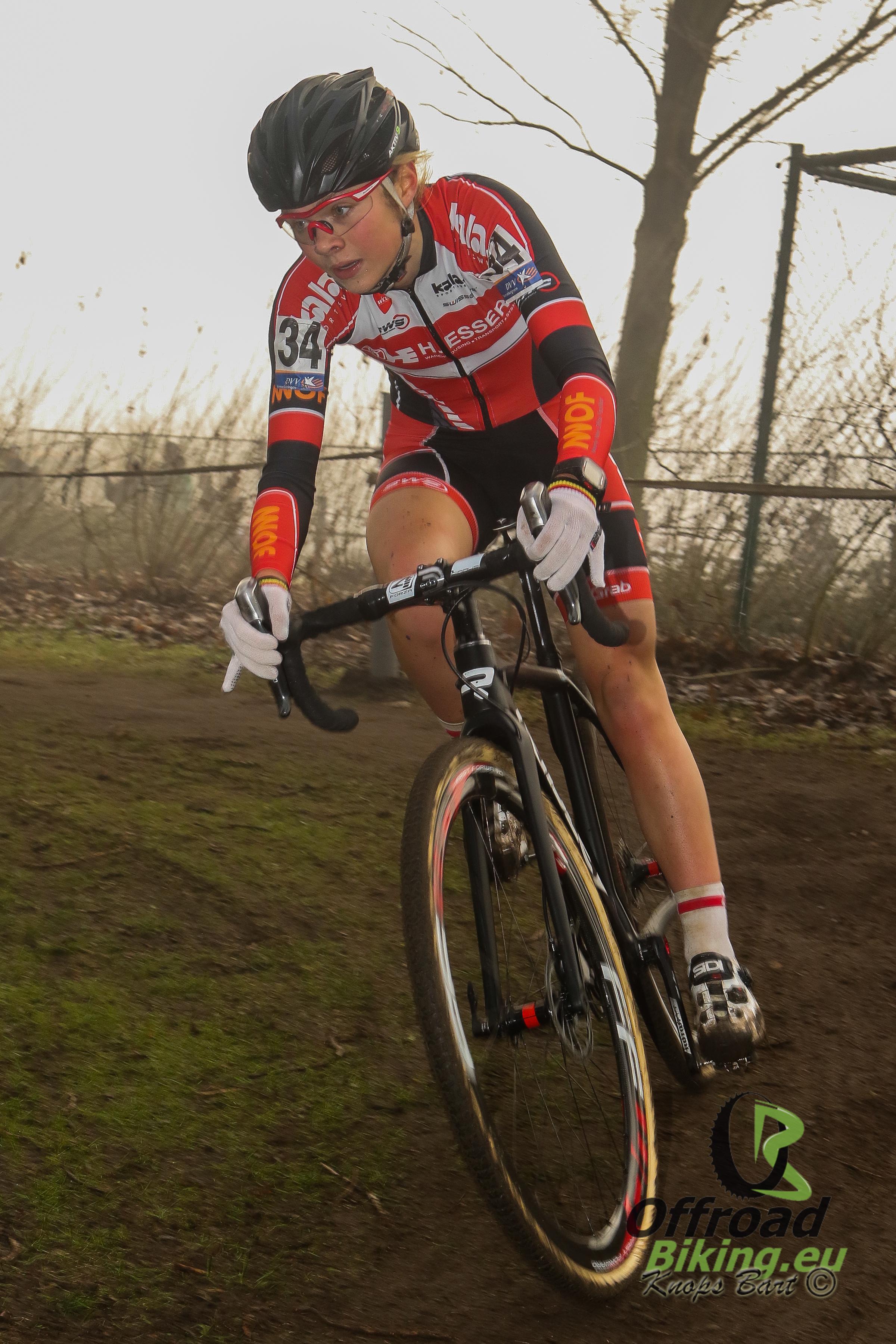 Laura Verdonschot is blij met vierde plaats in Loenhout