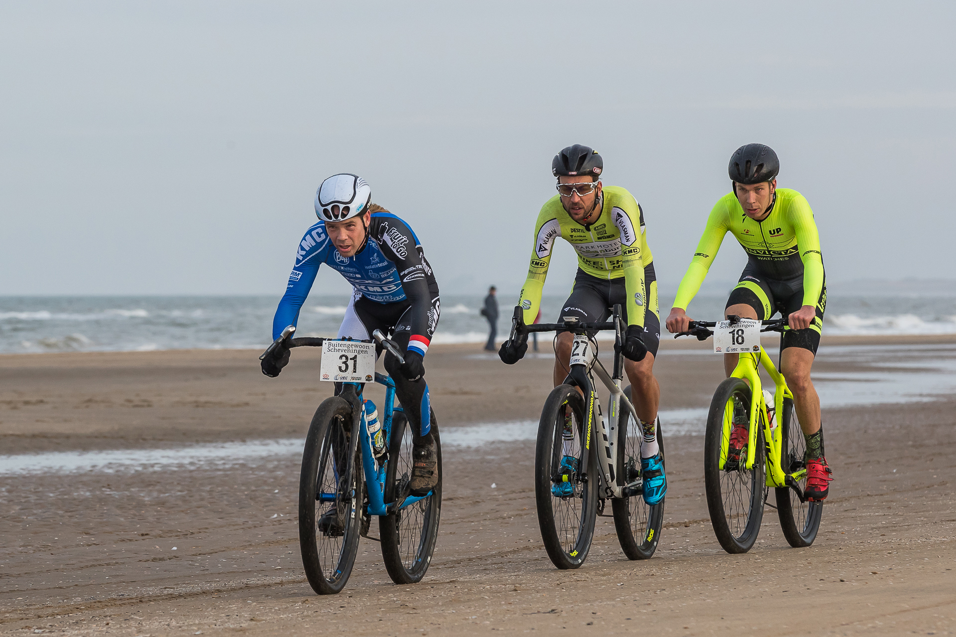 Ramses Bekkenk derde op EK strandrace in Scheveningen