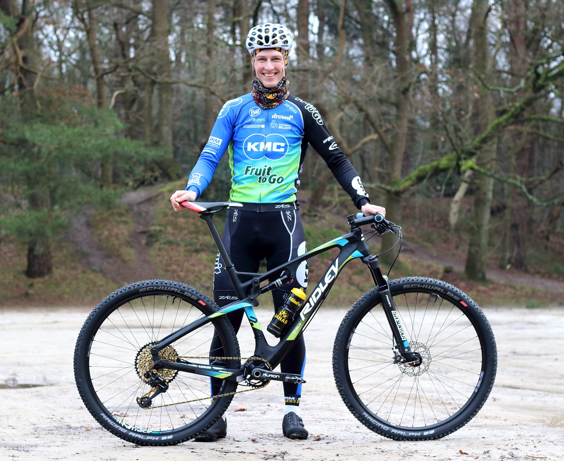 KMC-Fruit To Go team rijdt op Ridley mountainbikes dit seizoen