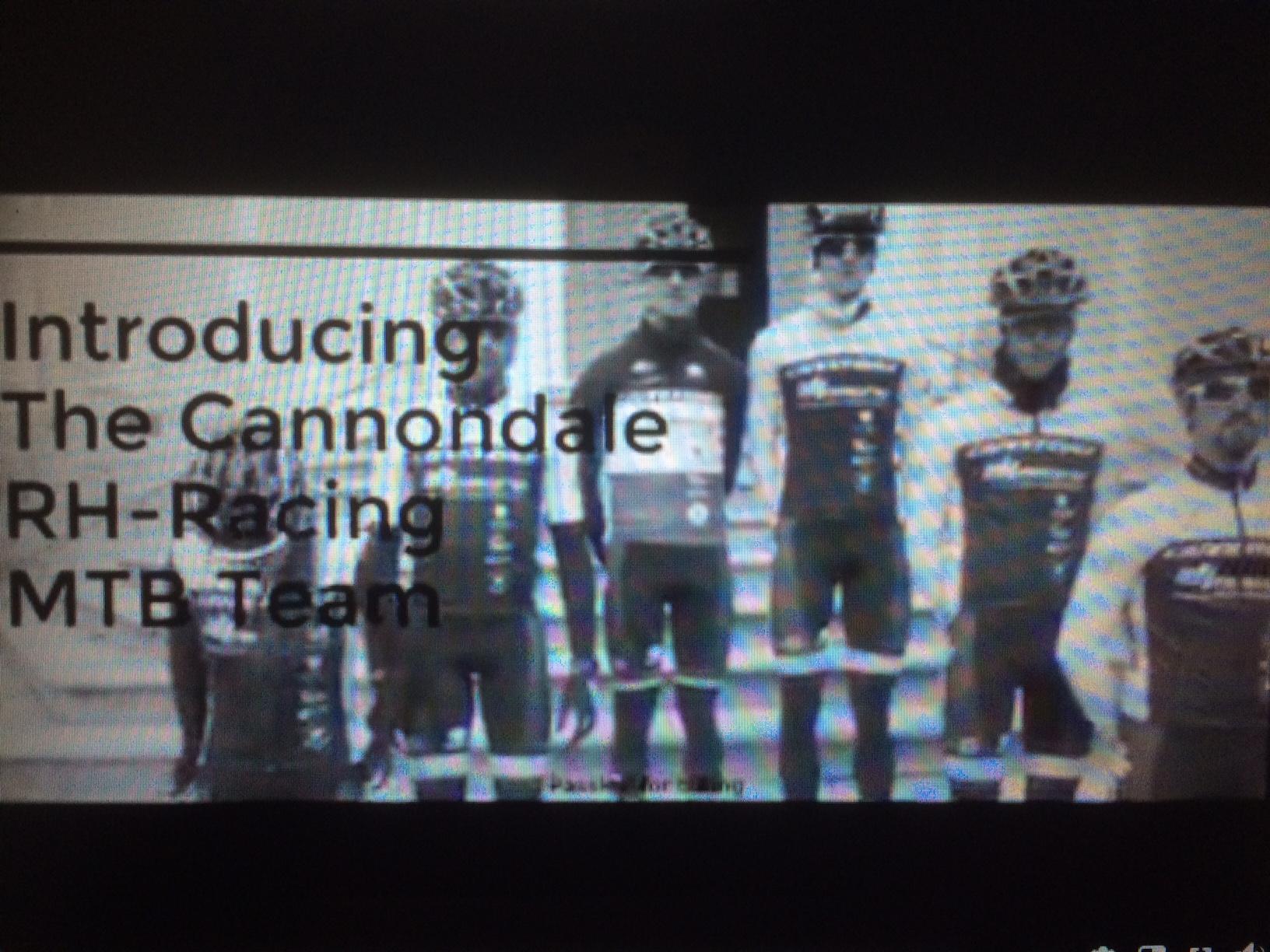 Voorstelling Cannondale RH-racing MTB team 2018