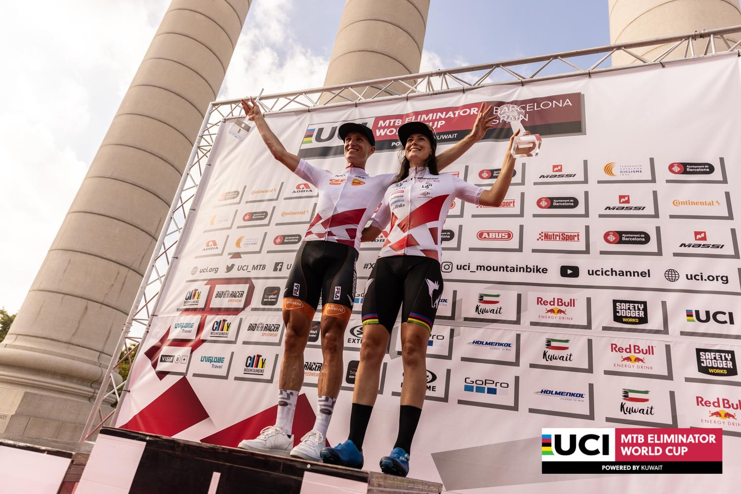 Jeroen van Eck en Gaia Tormena winnen in Barcelona en zijn eindwinnaars wereldbeker